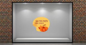 Αυτοκόλλητα καταστημάτων - Autumn big sale