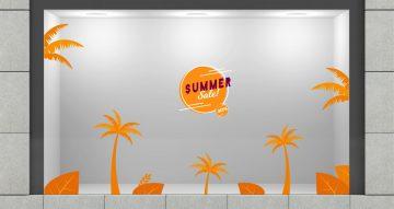Αυτοκόλλητα καταστημάτων - Summer sales Tropico με δικό σας ποσοστό