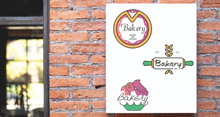 Αυτοκόλλητα καταστημάτων - Bakery set