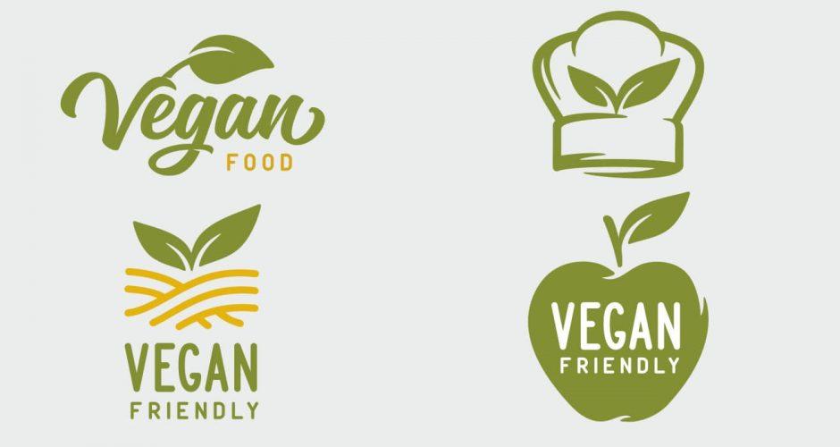 Αυτοκόλλητα καταστημάτων - Vegan food labels