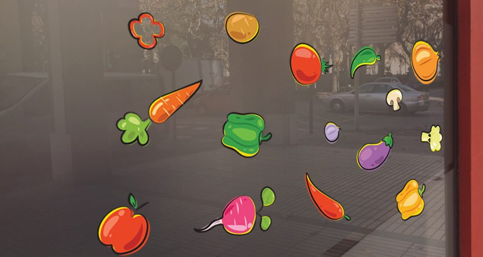 Αυτοκόλλητα καταστημάτων - Fresh vegetables