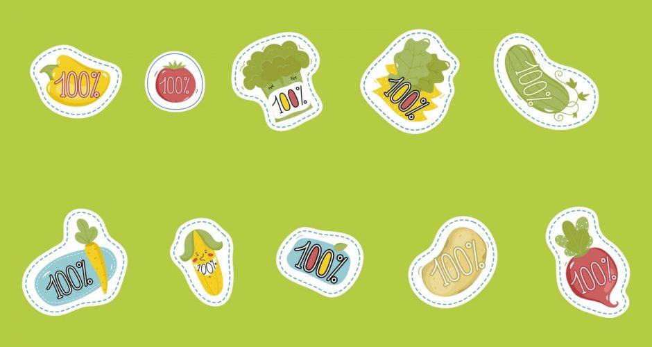 Αυτοκόλλητα καταστημάτων - Eco and Bio food