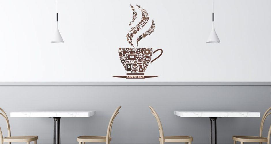 Αυτοκόλλητα καταστημάτων - Coffee time
