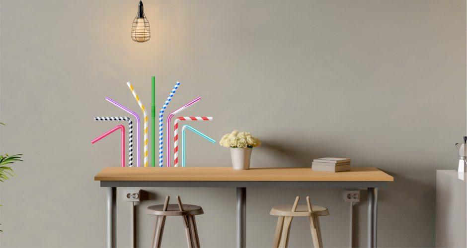 Αυτοκόλλητα καταστημάτων - Drinking straws