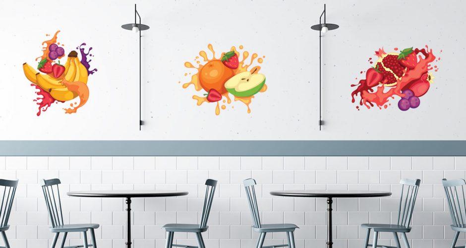 Αυτοκόλλητα καταστημάτων - Fruit mix