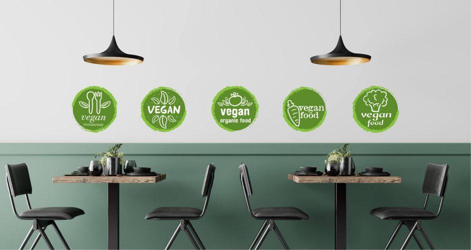 Αυτοκόλλητα καταστημάτων - Friendly for vegetarians