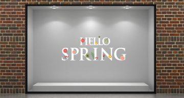 Ανοιξιάτικη βιτρίνα - HELLO SPRING με διάφορα λουλούδια