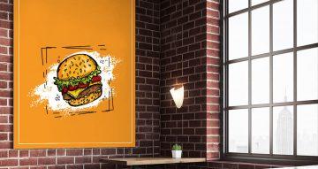 Αυτοκόλλητα καταστημάτων - Delicious burger
