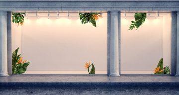 Αυτοκόλλητα καταστημάτων - Summer leaves