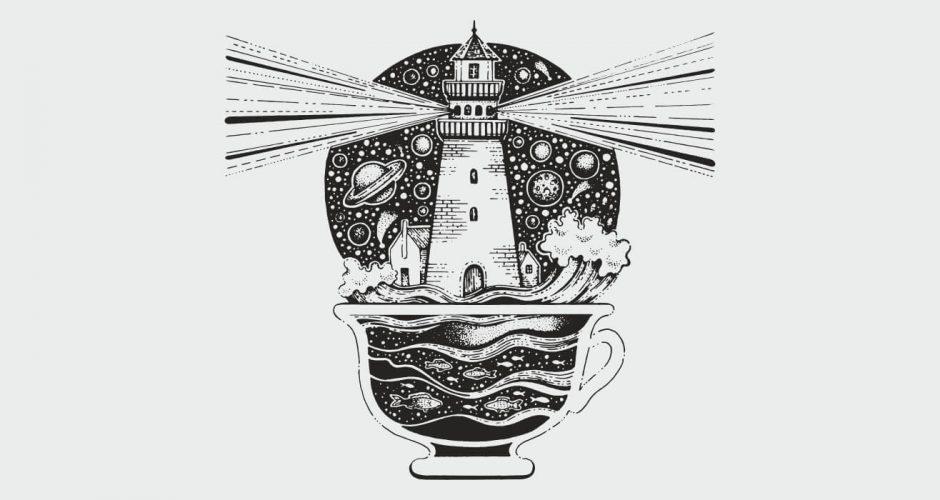 Αυτοκόλλητα καταστημάτων - Lighthouse Coffee cup