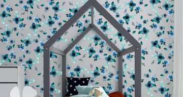 Floral - Πανεμορφη σύνθεση με μπλε λουλούδια
