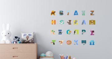Αλφάβητα - Ελληνικό Αλφάβητο με εικόνες από ζωάκια για κάθε γράμμα
