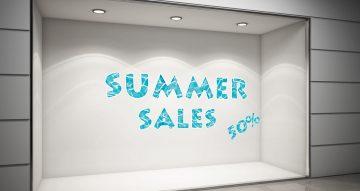 Αυτοκόλλητα καταστημάτων - SUMMER SALES-Βυθός