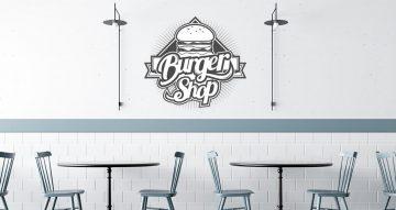 Αυτοκόλλητα καταστημάτων - Burger shop