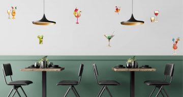 Αυτοκόλλητα καταστημάτων - Cocktail set