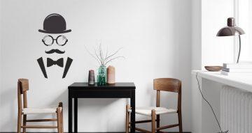 Άνθρωποι & φιγούρες - Αυτοκόλλητο Τοίχου - Mr. With mustache