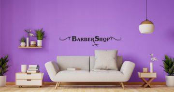 Αυτοκόλλητα καταστημάτων - Barbershop