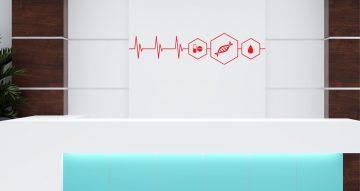 Αυτοκόλλητα καταστημάτων - Cardiogram line