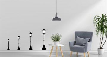 Αντικείμενα - Αυτοκόλλητο τοίχου  -  Road lights silhouettes