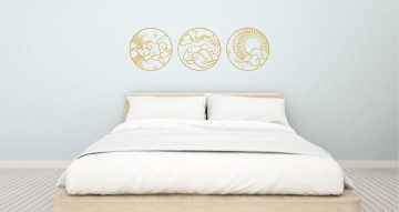 Αυτοκόλλητα Τοίχου - Oriental circles set