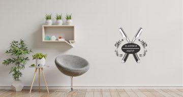 Αυτοκόλλητα καταστημάτων - Barbershop emblem