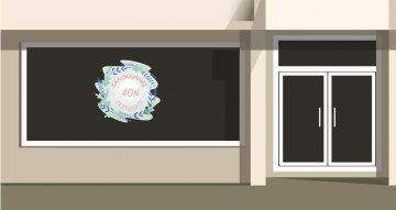 Αυτοκόλλητα καταστημάτων - Καλοκαιρινές εκπτώσεις -summer flower crown
