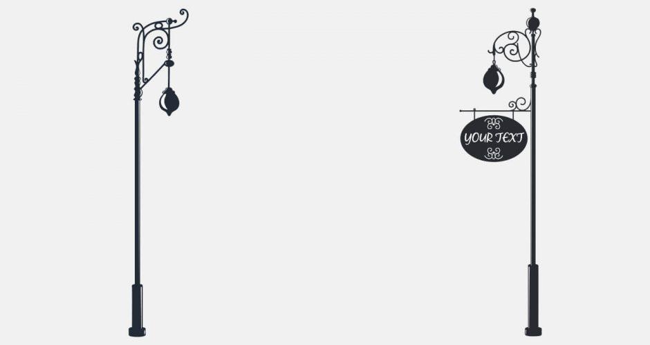 Αντικείμενα - Αυτοκόλλητο Τοίχου  - Street lights με το δικό σας κείμενο