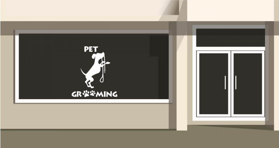Αυτοκόλλητα καταστημάτων - Pet grooming