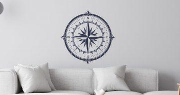 Αυτοκόλλητα Τοίχου - Αυτοκόλλητο τοίχου - Captain compass