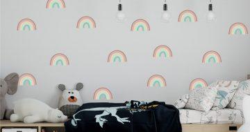 Αυτοκόλλητα Τοίχου - Αυτοκόλλητο τοίχου - Hand drawn rainbow