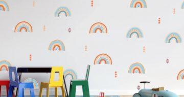 Αυτοκόλλητα Τοίχου - Αυτοκόλλητο τοίχου  -  Boho rainbows