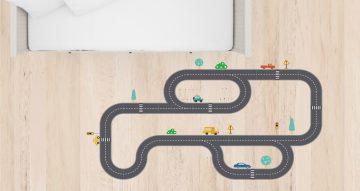 Αυτοκόλλητα Τοίχου - Αυτοκόλλητο τοίχου με αυτοκινητόδρομο ( Kids Highway)
