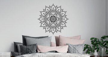 Αυτοκόλλητα Τοίχου - Αυτοκόλλητο Τοίχο - Boho mandala black and white