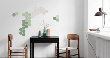 Αυτοκόλλητα Τοίχου - Αυτοκόλλητο τοίχου honeycomb pattern (Κηρήθρα)