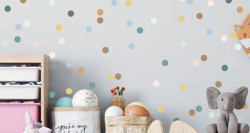 Αυτοκόλλητα Τοίχου - Αυτοκόλλητο τοίχου με πολύχρωμες  κουκίδες (Colorful dots)