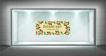 Αυτοκόλλητα καταστημάτων - Αυτοκόλλητο Φθινοπωρινών εκπτώσεων limited time offer