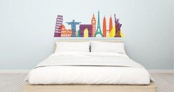 Αυτοκόλλητα καταστημάτων - Colourful landmarks