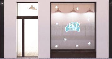 Αυτοκόλλητα καταστημάτων - Pet shop footprints