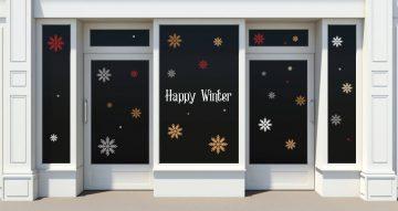 Αυτοκόλλητα καταστημάτων - Happy Winter