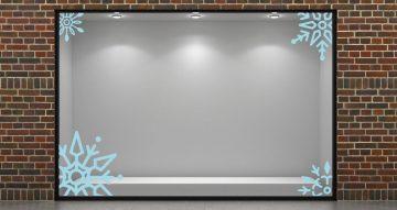 Αυτοκόλλητα καταστημάτων - Snowflakes