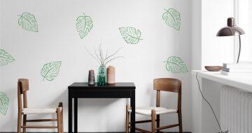 Floral - Αυτοκόλλητο τοίχου flowing leaves