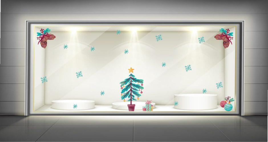 Αυτοκόλλητα καταστημάτων - Christmas mood