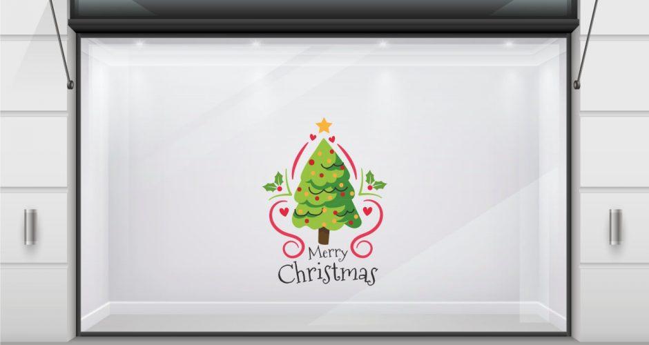 Αυτοκόλλητα καταστημάτων - Christmas tree