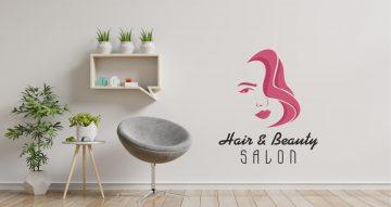 Αυτοκόλλητα καταστημάτων - Hair and beauty salon