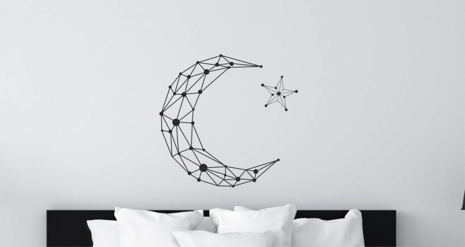 Αυτοκόλλητα Τοίχου - Geometric moon