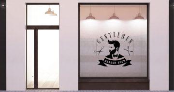 Αυτοκόλλητα καταστημάτων - Barbershop gentlemen