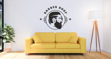 Αυτοκόλλητα καταστημάτων - Barbershop men