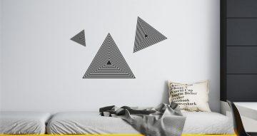 Αυτοκόλλητα Τοίχου - Triangle 3D