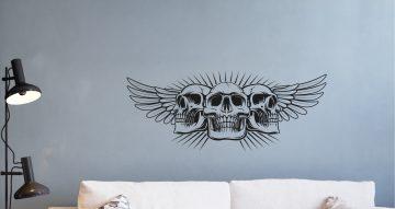 Άνθρωποι & φιγούρες - Skull with wings