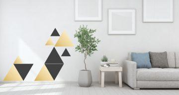 Αυτοκόλλητα Τοίχου - Golden triangles